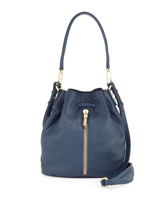 Elizabeth and James Cynnie Mini Bucket Lambskin Bag, Yachting Blue
