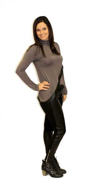 pants houseof11 leather leggings black