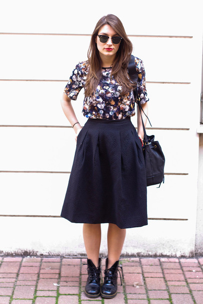 style and trouble shoes skirt shirt bag sunglasses jewels
