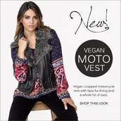 vest,beautiful,vegan leather,vegan fur,leather,black leather,cropped,faux fur vest
