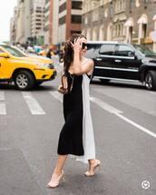 dress,long vest,tumblr,midi dress,slip dress,vest,sandals,sandal heels,high heel sandals,bag,sunglasses,shoes,jewels,jacket