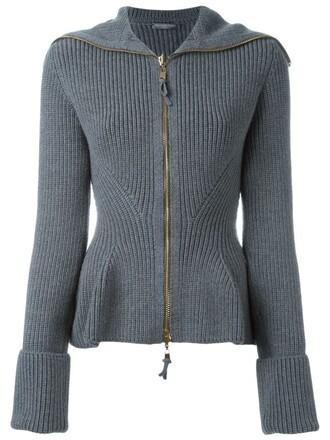 jacket knit grey
