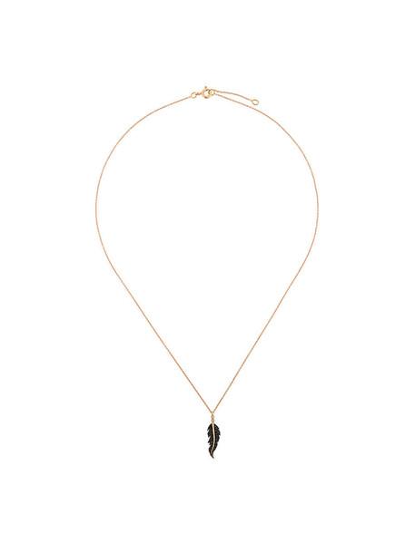 women embellished necklace gold black grey metallic jewels