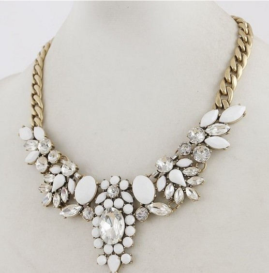 Free shipping 2014 brand colorful crystal flower choker chain neon bib statement necklace for women necklaces & pendants xl 110