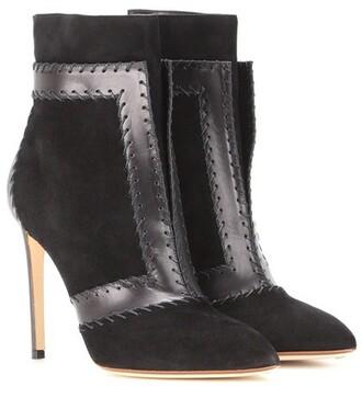 leather ankle boots boots ankle boots leather suede black shoes