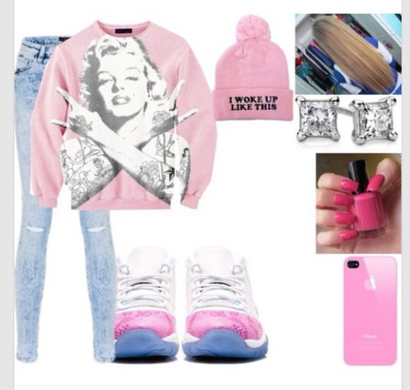 marilyn monroe top t-shirt pink jacket