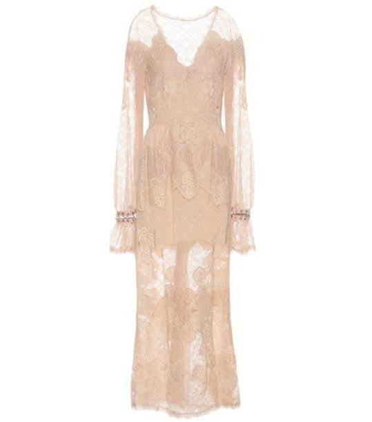 Jonathan Simkhai Lace maxi dress in beige / beige