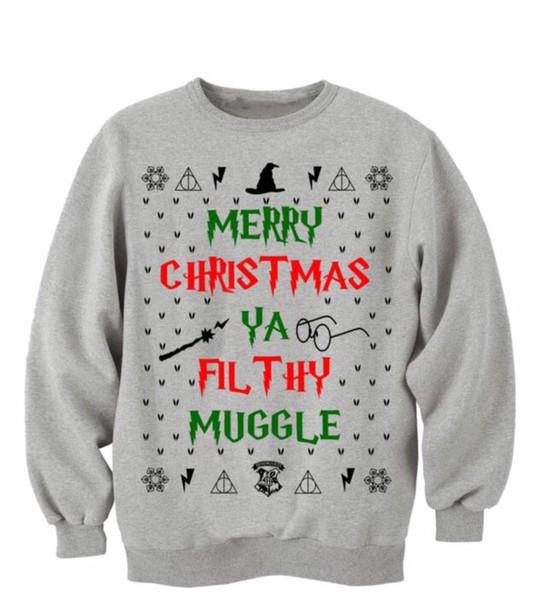 sweater harry potter muggle christmas