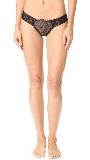 Hanky Panky After Midnight Wink Low Rise Diamond Thong - Black