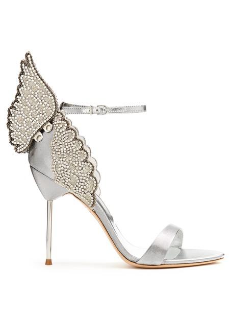 Sophia Webster angel sandals silver shoes