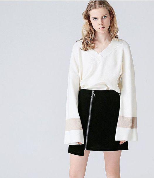 a02971232 skirt clothes korean fashion korean fashion korean style korean fashion  toyouth short black skirt korean street