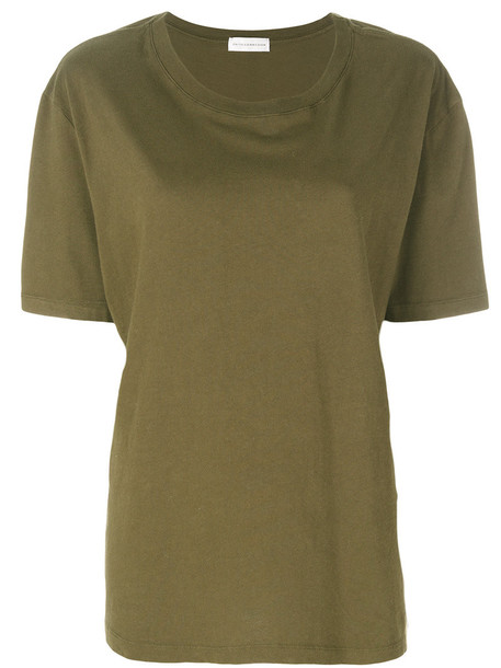 Faith Connexion - oversized T-shirt - women - Cotton - XS, Green, Cotton