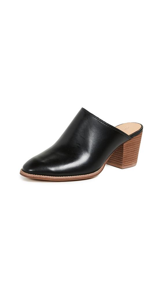 Madewell Harper Block Heel Mules in black
