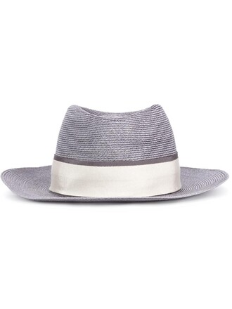 women hat straw hat grey