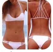 swimwear,trendy swimwear,bikini,white,strappy,two-piece,white bikini,swimmers,string bikini,white swimwear,luli fama,bikini 2016,elite fashion swimwear,halter top,print bikini,strappy bikini,hot,summer,sexy bikini,bather top,bikini top,pretty
