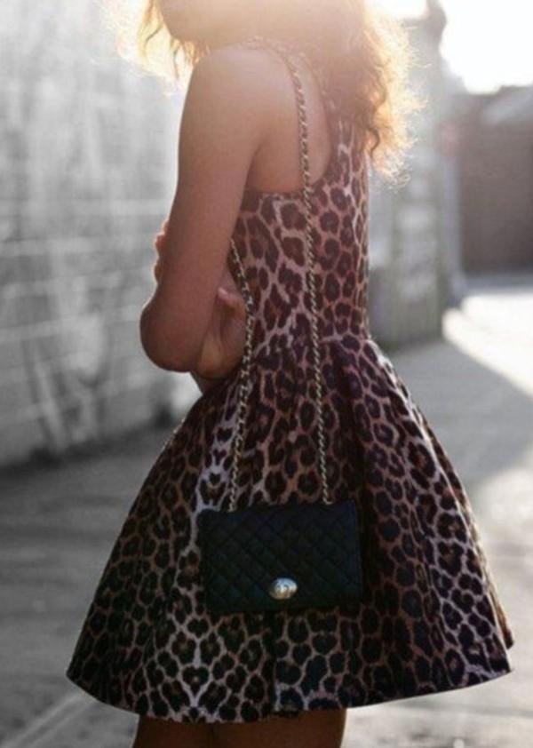 dress cute cute dress leopard print dress clothes leopard print