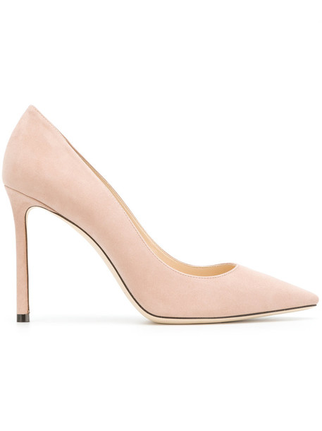 women 100 pumps leather suede purple pink shoes