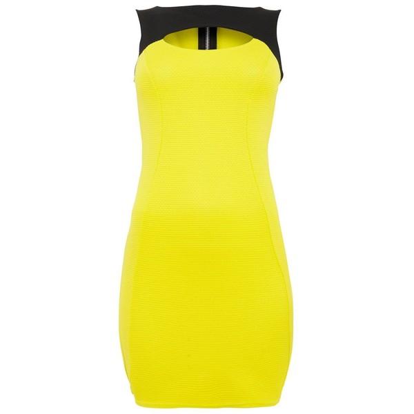 Neon yellow dress makeup