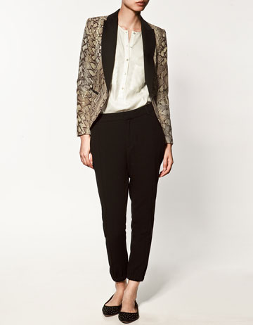 blazer avec imprim serpent collection vestes collection femme zara france. Black Bedroom Furniture Sets. Home Design Ideas