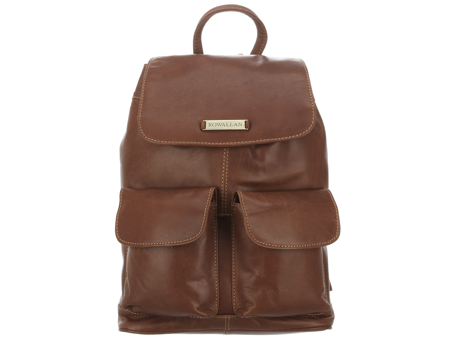 Rowallan - Scotland 'Loreto' Brandy Leather Small Backpack 31-7747-BRANDY | pureluxuries.com
