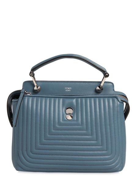 Fendi mini quilted bag leather bag leather light blue light blue