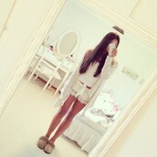 cardigan,long,sweater,long sleeves,shorts,lace,lace shorts,pyjama shorts,pajamas