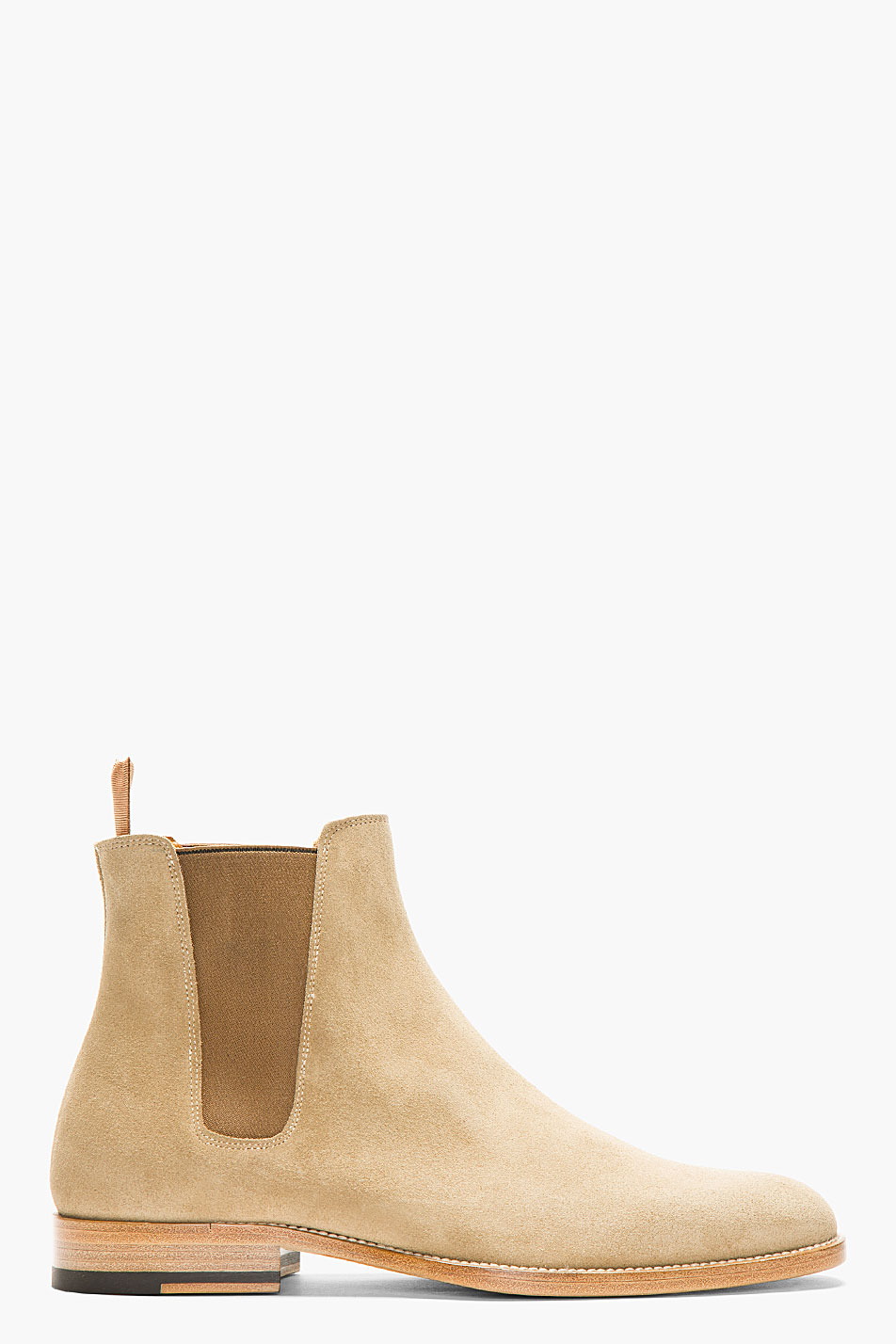 saint laurent tan suede chelsea boots. Black Bedroom Furniture Sets. Home Design Ideas