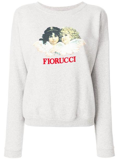 FIORUCCI sweatshirt women cotton print grey sweater