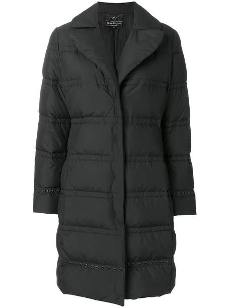 Salvatore Ferragamo coat long women black