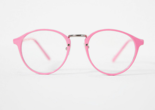 Plastic Frame Glasses Crooked : Pink Nerd Glasses submited images.