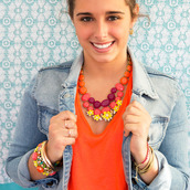 jewels,bright,bold,colorful,pop,spring,floral,gems,statement,statement necklace,tresco,chloeisabel,casual glam,pink,coral,coral floral,yellow