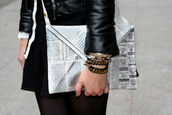 bag,newspaper,clutch,newspaper clutch,tumblr,large clutch,white,black and white,oversized envelope clutch,envelope clutch,perfecto