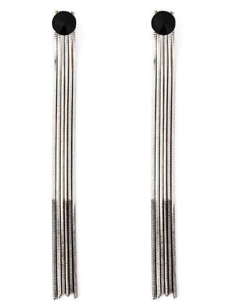 IOSSELLIANI sun metal women earrings black grey metallic jewels