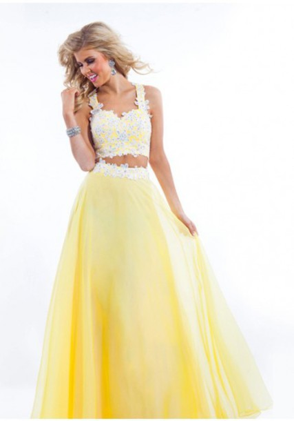 Cheap Yellow Poofy Prom Dresses - Plus Size Prom Dresses