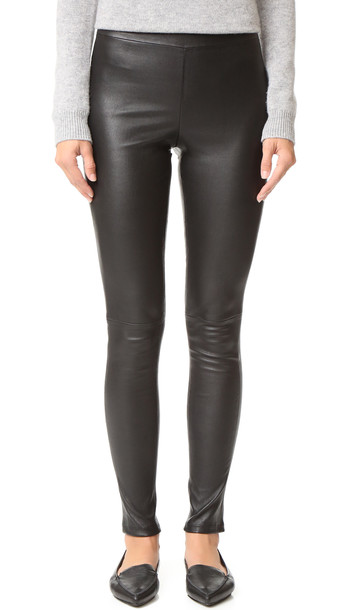 theory pants leather pants leather black