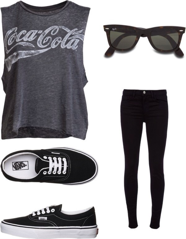 t-shirt shirt top grey grey coca cola coca cola t-shirt grey shirt grey coca cola grey t-shirt muscle tee tank top sunglasses shoes pants jeans black sunglasses black shirt black shoes black jeans coca-cola muscle tee cola vans black t-shirt graphic tee