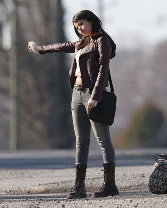 jacket drmartens selena gomez boots bag shoes