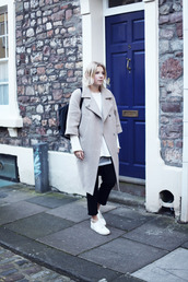 into the fold,blogger,sweater,pants,shoes,coat,jewels
