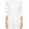 """white lace cutwork"" shift cutout dress – glamzelle"