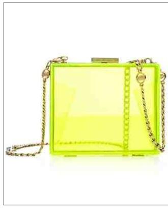 bag neon juicy couture clutch