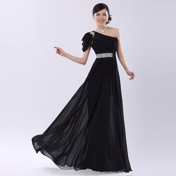 dress long black dress