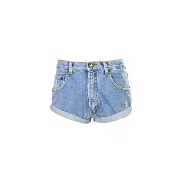 One teaspoon salvaged recycled shorts blue