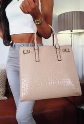 bag,pink boutique,nude hand bag,casual,snake texture