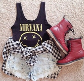 shoes,boots,combat boots,brown,shorts,ripped,frayed,nirvana,band t-shirt,black,white,checked shirt,sleeve shirt,long sleeve shirt,black long sleeve shirt,long,red,boot,red combat boots,cropped,crop tops,cropped tee,frayed shorts,checked skirt,long sleeves,pu sleeve,long sleeve dress,brown combat boots,singlet,t-shirt,shirt,yellow,back,jacket,top,tank top