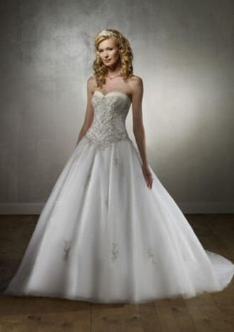 dress wedding dress white white dress bedazzled embellished long dress