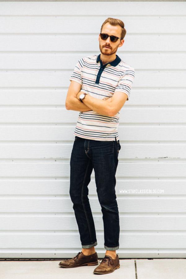stay classic jeans shoes jewels sunglasses belt socks