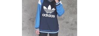 sweater adidas sweater blue