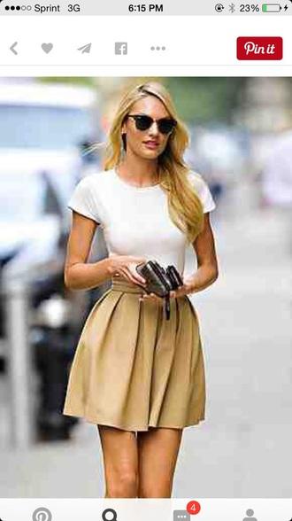 skirt tan skirt cute summer skirt khaki school