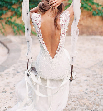 dress wedding dress prom dress backless dress open back lace dress white dress beach wedding dress beach wedding