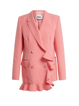 jacket ruffle pink
